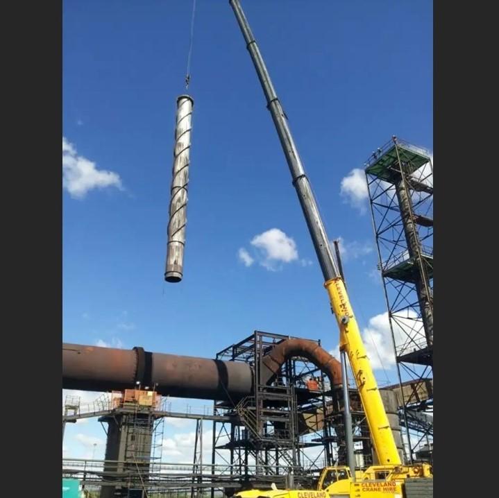 Smoke Stack Replacement, Evraz Mining