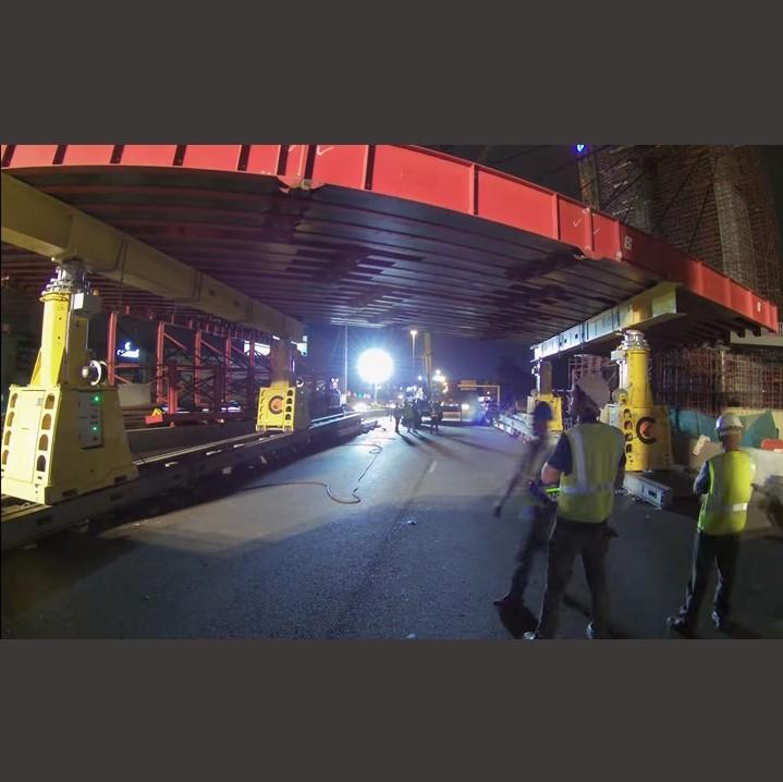 100 Ton super beam removal on bridge using SBL 500